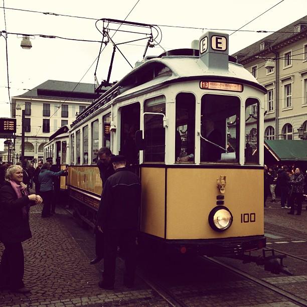 Historische Straßenbahn in Karlsruhe