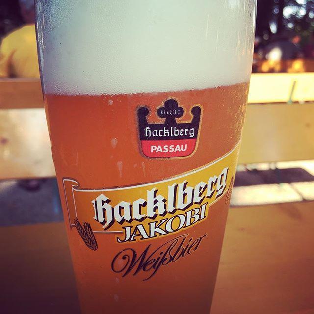Hacklberg Weißbier. Sehr fein. #Bier