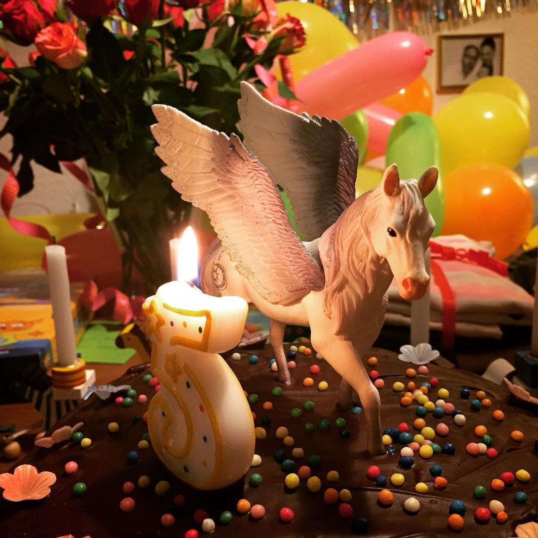 Geburtstagstorte mit Pegasus. Klar soweit? 🎂5️⃣