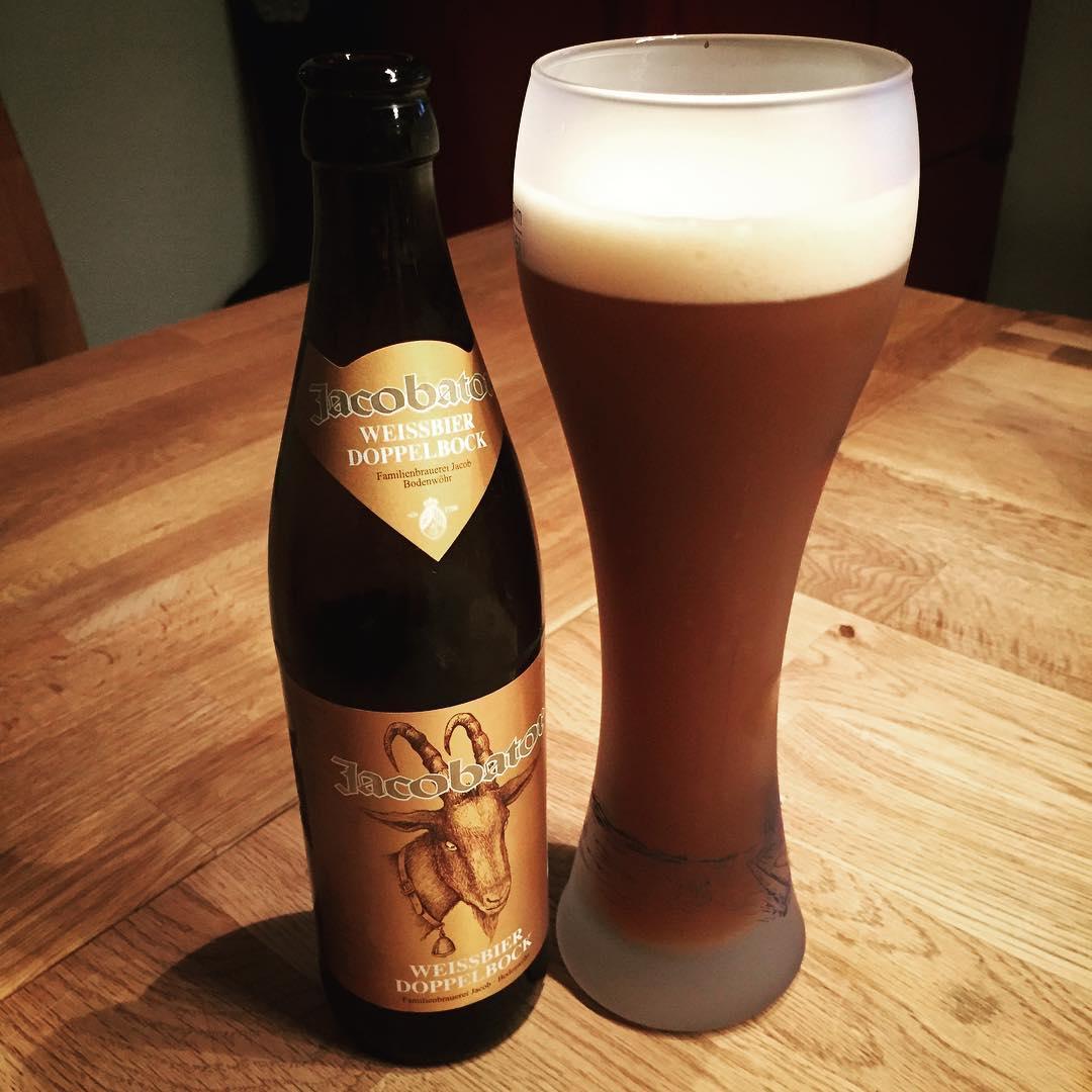 Jacobator Weißbier Doppelbock. Lecker. #bier