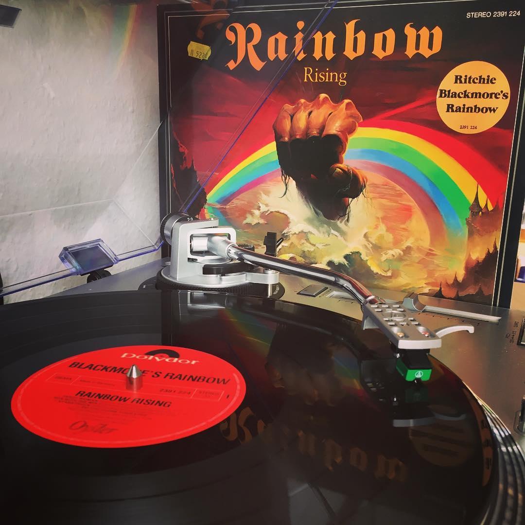 Rainbow Rising. 🌈 #nowspinning #vinyl