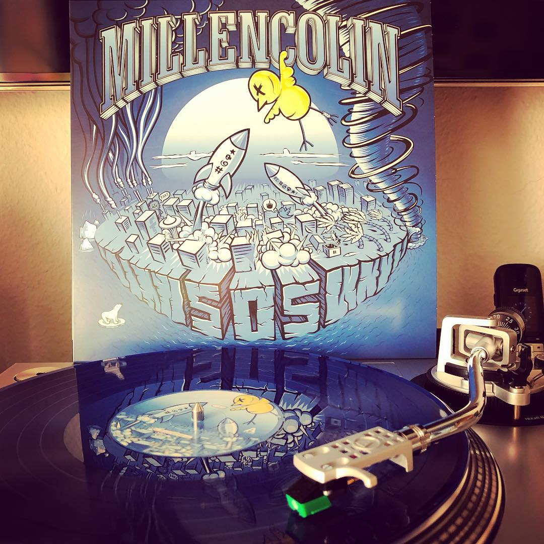 Best record since Tiny Tunes and Life On A Plate. Love it! ??#millencolin #sos #punkrock #nowspinning #vinyl #onmyturntable #bluevinyl #coloredvinyl