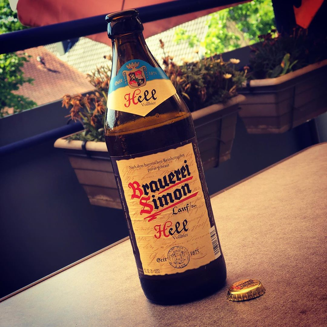 Sonntagnachmittag, 35°C und ein leckeres Helles von der Brauerei Simon. ?☀️#bier #sommer