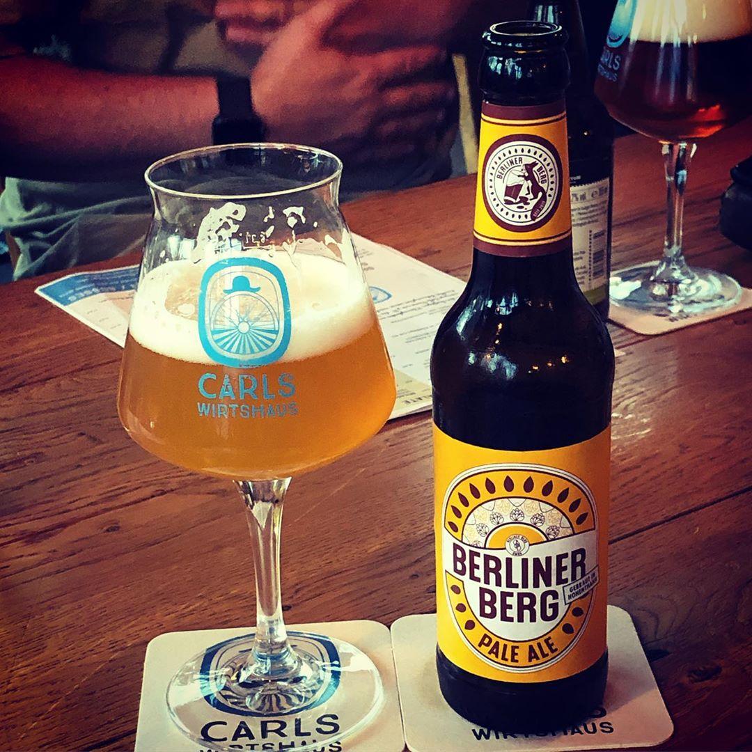 Oh! Das ist aber ein sehr feines Pale Ale! @berlinerbergbrauerei #bier #americanpaleale @carlswirtshaus