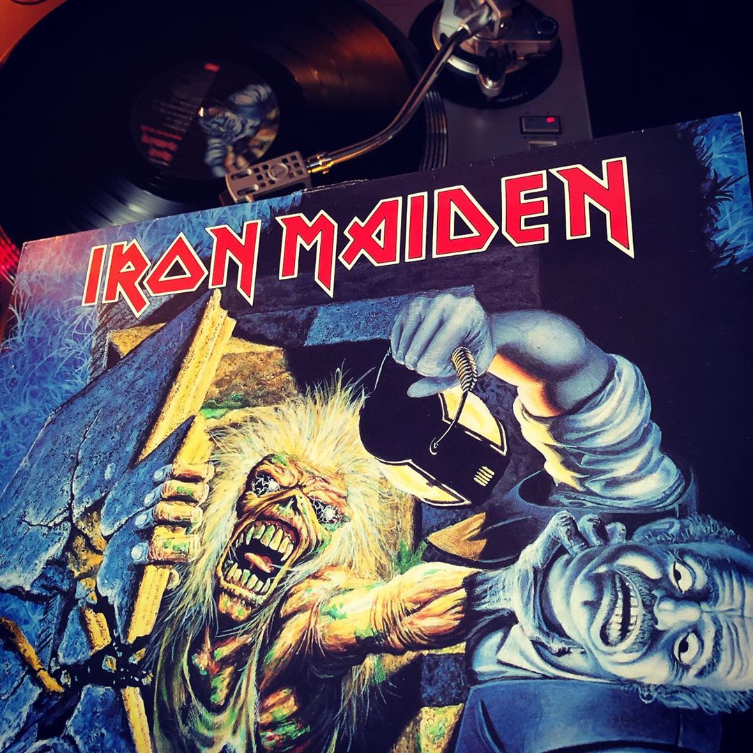 No Prayer For The Dying from Iron Maiden was one of my first Heavy Metal records back in the nineties. Still love it! ??? #nowspinning #vinyl #heavymetal #ironmaiden